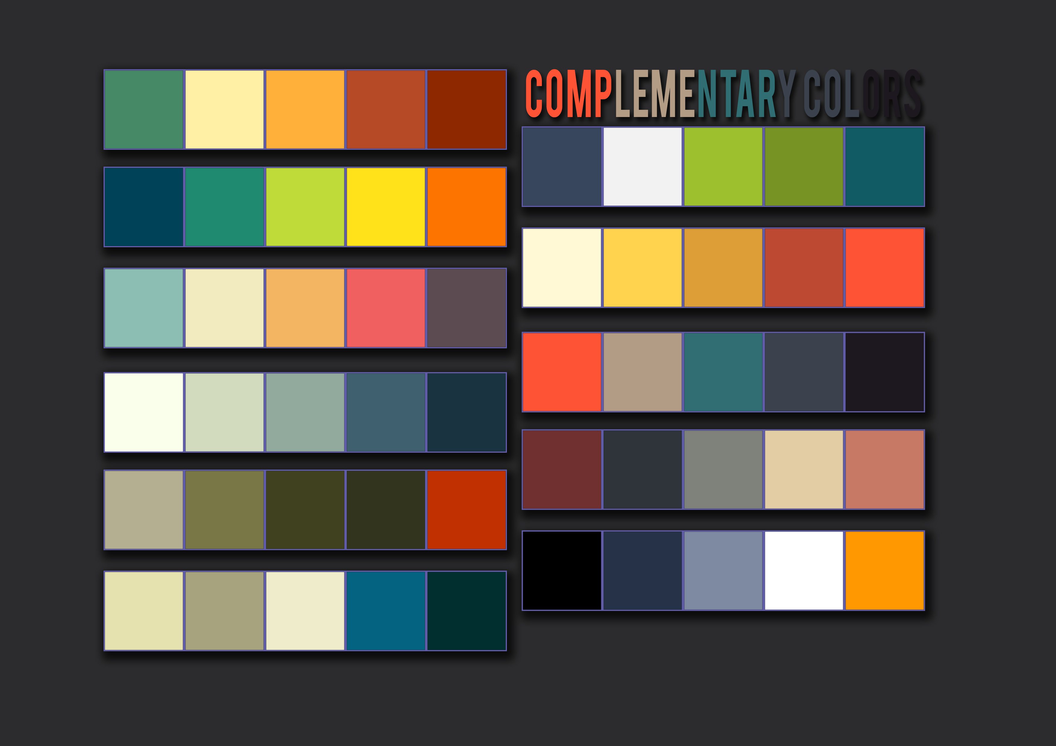Complementary colors pallet