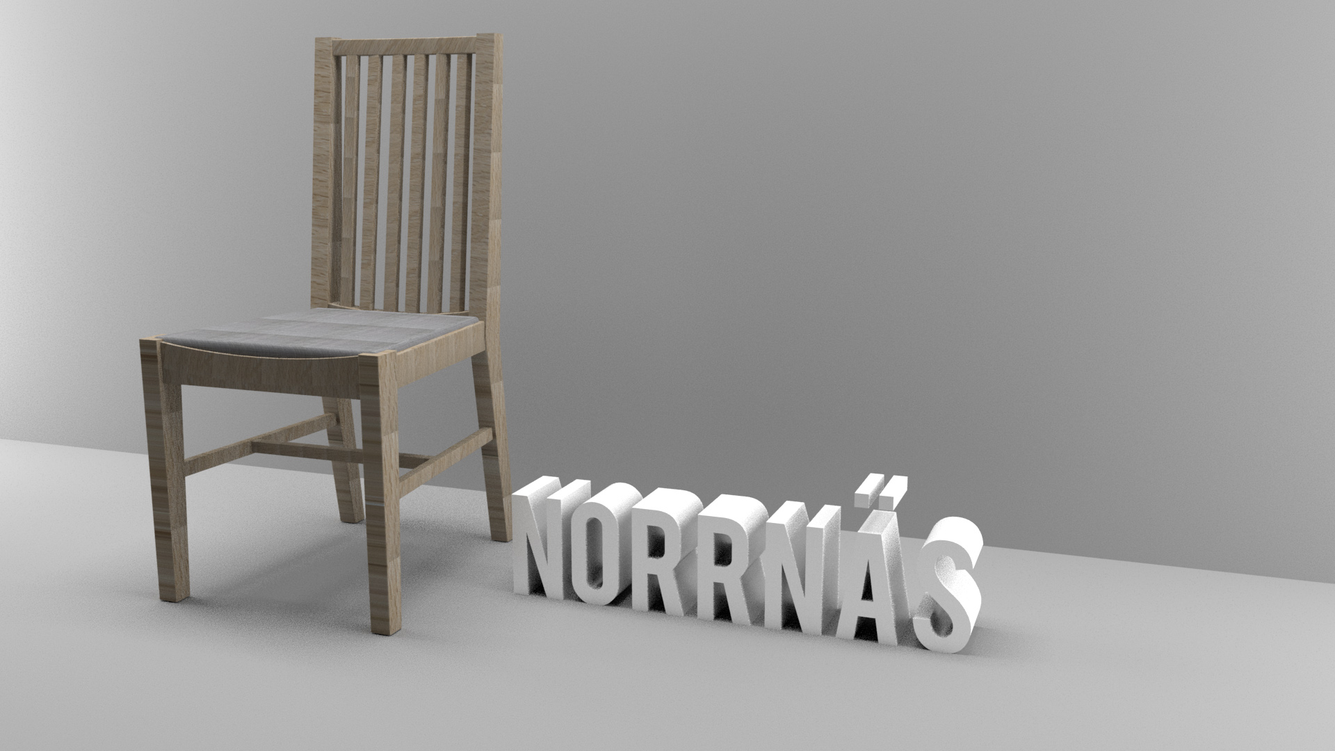 3D chair in Maya